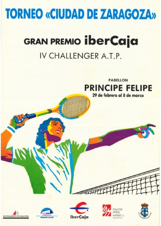 """29 feb a 8 marzo 1991 IV TORNEO CHALLENGER ATP """"CIUDAD DE ZARAGOZA"""""""