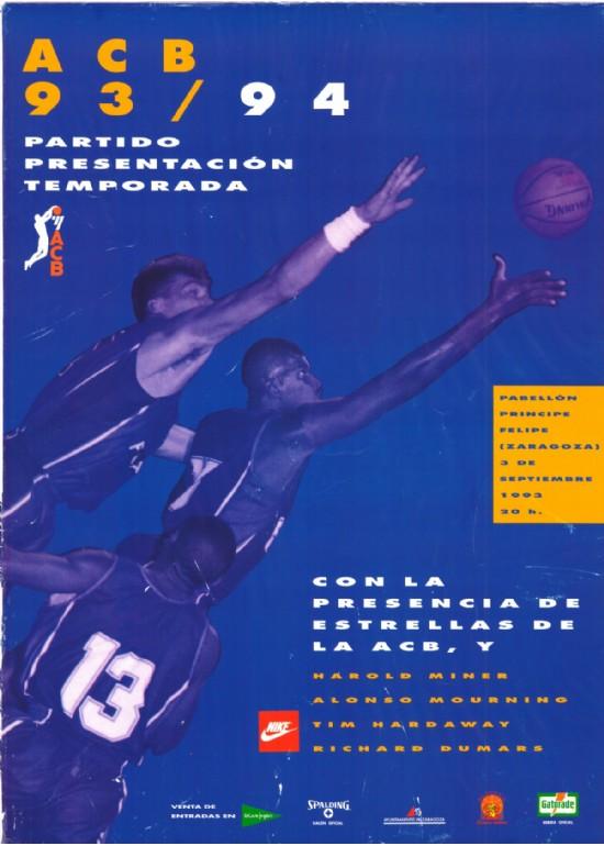 3 septiembre 1993 PRESENTACIÓN LIGA ACB 93-94