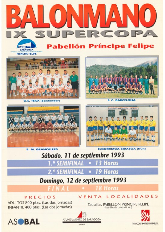 11 y 12 sept 1993 SUPERCOPA ASOBAL