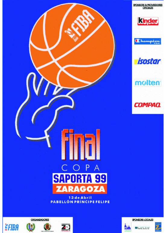 13 de abril 1999 FINAL COPA EUROPA BALONCESTO - COPA SAPORTA