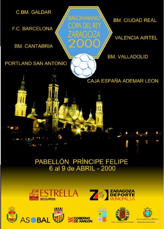 6 a 9 abril 2000 LXXV COPA DE S.M. EL REY DE BALONMANO
