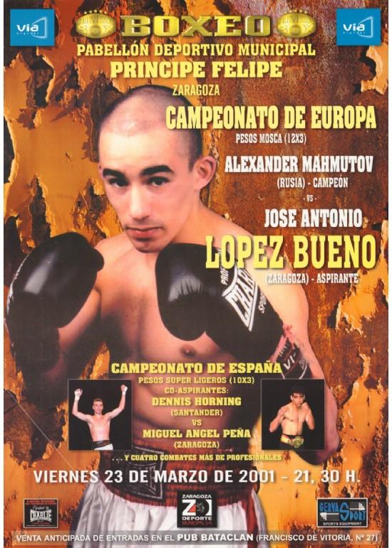 23 marzo 2001 CAMPEONATO DE EUROPA DE BOXEO