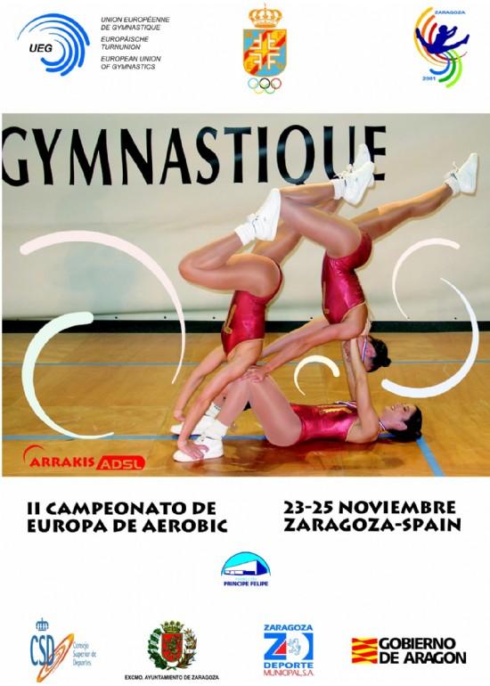 22 a 25 noviembre 2001 II CAMPEONATO DE EUROPA DE AERÓBIC
