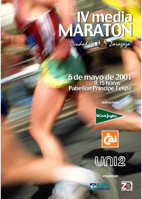 6 mayo 2001 IV MEDIA MARATÓN CIUDAD DE ZARAGOZA