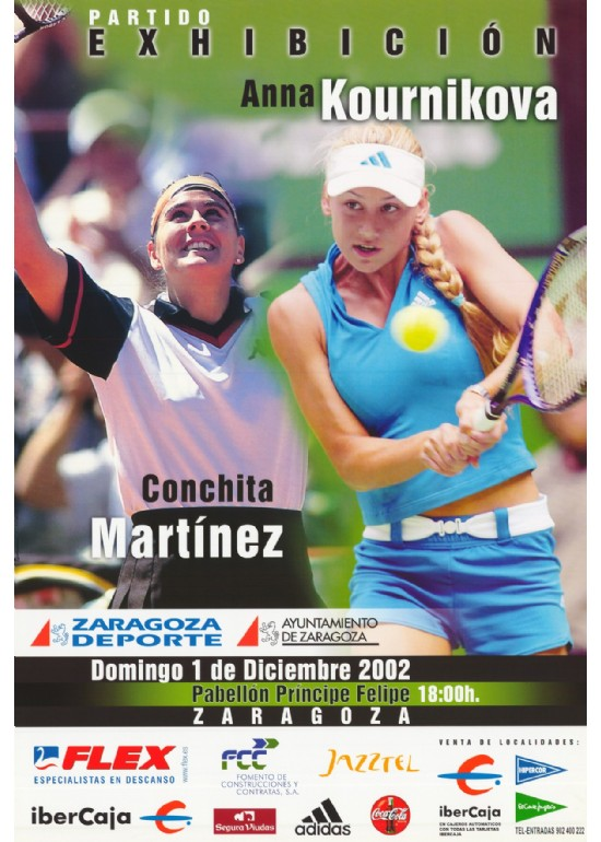 "1 diciembre 2002 PARTIDO ""ANNA KOURNIKOVA - CONCHITA MARTÍNEZ"""