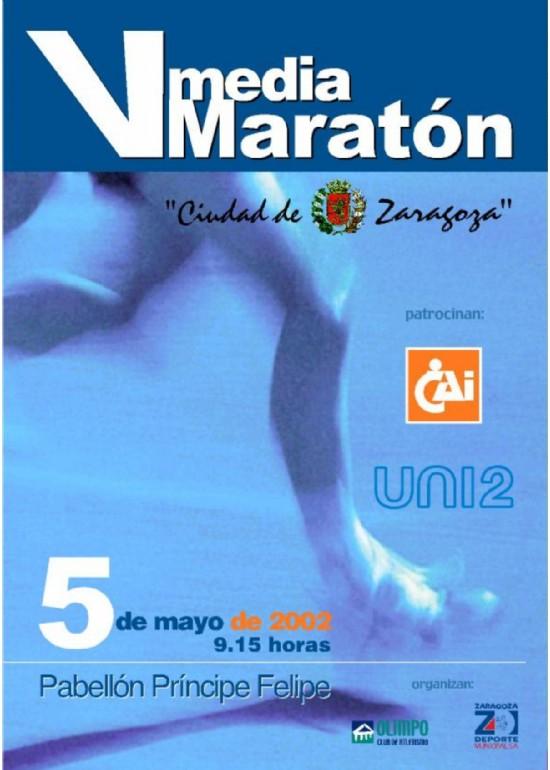 5 mayo 2002 V MEDIA MARATÓN CIUDAD DE ZARAGOZA