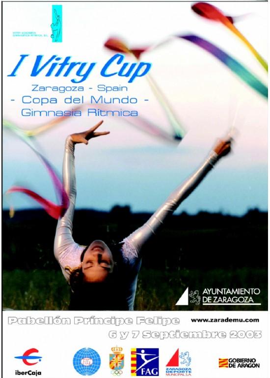 "5 a 7 septiembre 2003 I ""VITRY CUP"" DE GIMNASIA RÍTMICA - COPA DEL MUNDO"