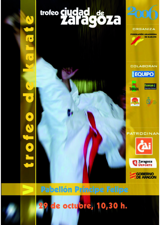 29 octubre 2006 V Trofeo Ciudad de Zaragoza de Kárate