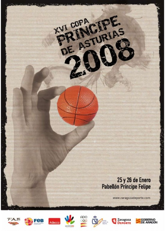26 y 27 enero 2008 XVI COPA PRÍNCIPE DE ASTURIAS DE BALONCESTO