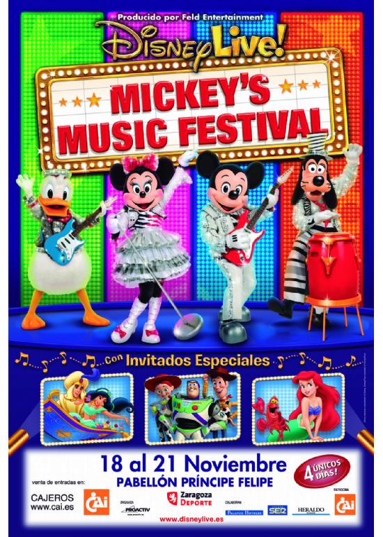 18 a 21 noviembre 2010 ESPECTÁCULO DE DISNEY LIVE MICKEY´S MUSIC FESTIVAL