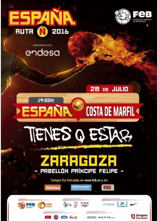 28 julio 2016 PARTIDO RUTA Ñ 2016: ESPAÑA - COSTA DE MARFIL
