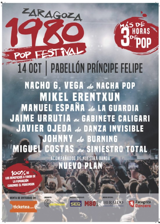 14 octubre 2017 CONCIERTO DE 1980 POP FESTIVAL