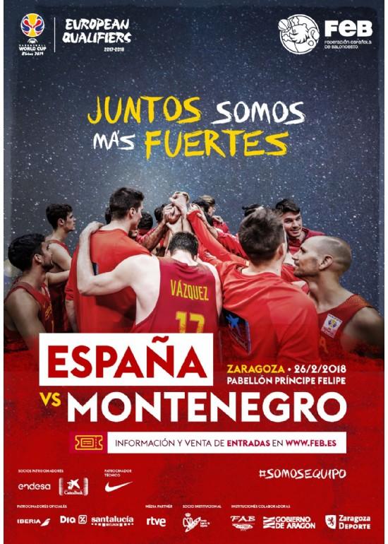 26 febrero 2018 PARTIDO CLASIFICATORIO MUNDIAL DE BALONCESTO 2019: ESPAÑA - MONTENEGRO
