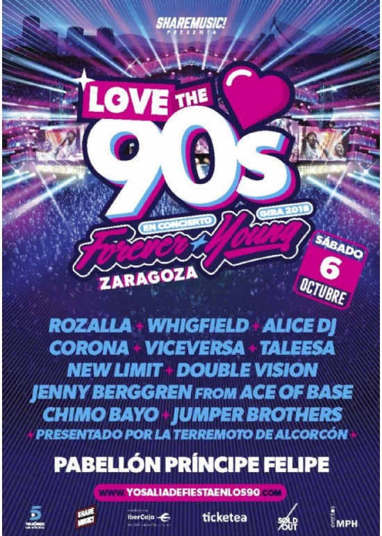 6 octubre 2018 CONCIERTO DE LOVE THE 90'S