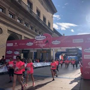 Zaragoza celebra la Carrera de la Mujer con una Marea Rosa de récord liderada por la aragonesa Sara Benedí