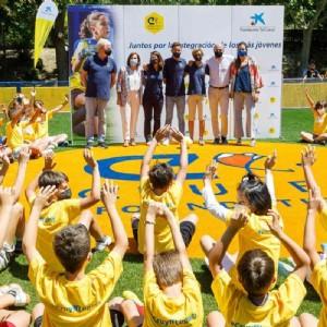 Inauguración del «Cruyff Court Ander Herrera» en Zaragoza