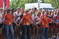 las voluntarias frenan la euforia en la línea de salida