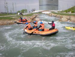 El canal de aguas bravas del Parque del Agua abrirá para las Fiestas del Pilar