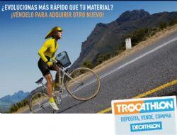 ¿Quieres vender tu viejo material deportivo? ¿Deseas ahorrar comprando material usado?. Decathlon celebrará en octubre el «Trocathlon»,  jornadas de trueque de material deportivo.