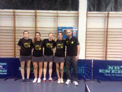 El School Zaragoza Tenis de Mesa, categoría femenina, hace realidad el sueño del ascenso a Súper División