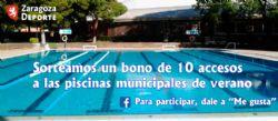 Sorteo de un bono de 10 accesos a las piscinas municipales de verano